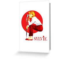 Sylvie Vartan Exclusive design! Greeting Card