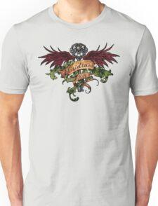 Obsidian Key - Wings, Skull and the Key - Progressive Rock Metal Music - (Clear) Hand Drawn Unisex T-Shirt