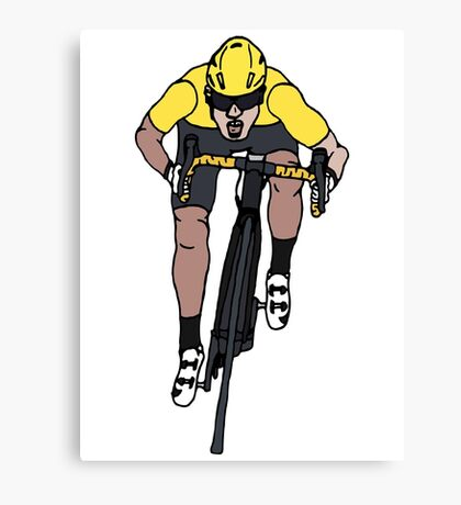 "Mark Cavendish  -  ""Le Maillot Jaune"" Canvas Print"