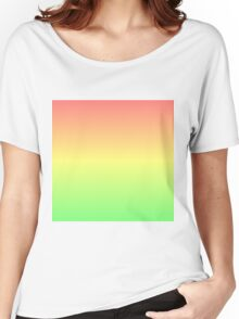 Red to Green Gradient Women's Relaxed Fit T-Shirt