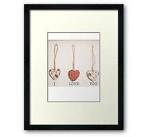 I Love You Framed Print