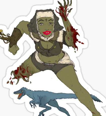 time travel nun coochie Sticker