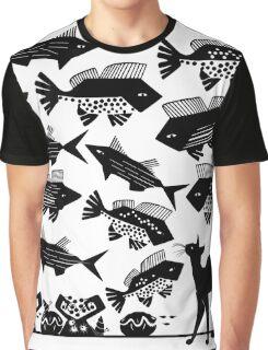 Cat Fish Graphic T-Shirt