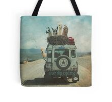 NEVER STOP EXPLORING II - MALIBU WINE SAFARI EDITION Tote Bag
