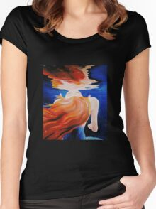 ABOVE OR BELOW Women's Fitted Scoop T-Shirt