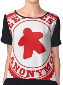 Meeples Anonymous Red Chiffon Top