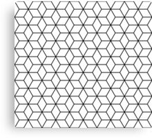 Sacred geometry pattern in black and white Canvas Print