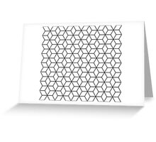 Sacred geometry pattern in black and white Greeting Card