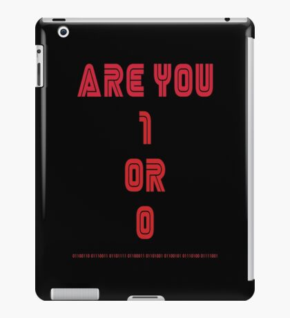 Are You 1 or 0 - Mr Robot - F Society iPad Case/Skin