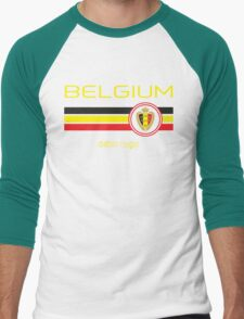 Euro 2016 Football - Belgium (Away Black) Men's Baseball ¾ T-Shirt