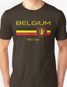Euro 2016 Football - Belgium (Away Black) Unisex T-Shirt