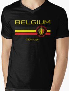 Euro 2016 Football - Belgium (Away Black) Mens V-Neck T-Shirt