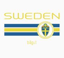 Euro 2016 Football - Sweden (Away Black) Kids Tee