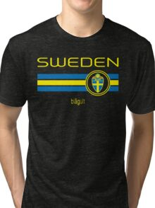 Euro 2016 Football - Sweden (Away Black) Tri-blend T-Shirt