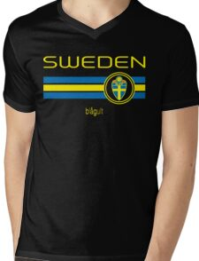 Euro 2016 Football - Sweden (Away Black) Mens V-Neck T-Shirt