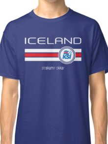 Euro 2016 Football - Iceland (Home Blue) Classic T-Shirt