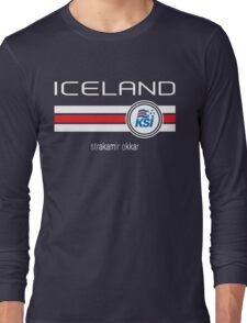 Euro 2016 Football - Iceland (Home Blue) Long Sleeve T-Shirt