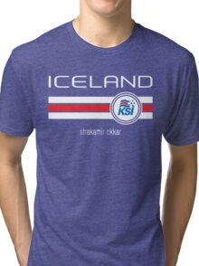 Euro 2016 Football - Iceland (Home Blue) Tri-blend T-Shirt