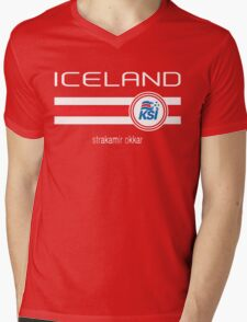 Euro 2016 Football - Iceland (Home Blue) Mens V-Neck T-Shirt