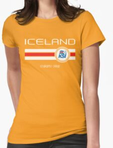 Euro 2016 Football - Iceland (Home Blue) Womens Fitted T-Shirt