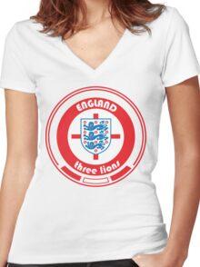 Euro 2016 Football - Team England Women's Fitted V-Neck T-Shirt
