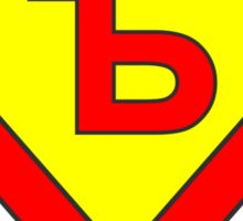 Superman alphabet letter Sticker