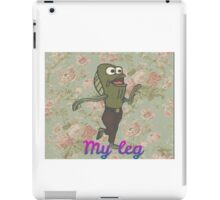 "Floral ""My Leg"" Spongebob iPad Case/Skin"
