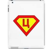 Superman alphabet letter iPad Case/Skin