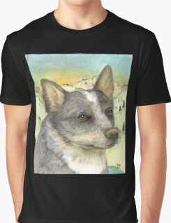 Queensland Blue Heeler Dog Cathy Peek Animal Art Graphic T-Shirt