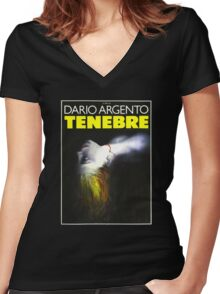 Tenebre Women's Fitted V-Neck T-Shirt