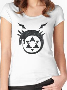 °MANGA° Ouroboros Full Metal Alchemist Logo Women's Fitted Scoop T-Shirt