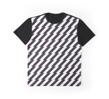 Black and white zigzag pattern print Graphic T-Shirt