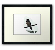 Swallow Leaf Design Framed Print