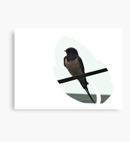 Swallow Leaf Design Canvas Print