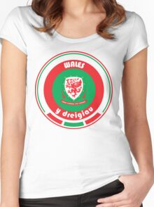 Euro 2016 Football - Team Wales Women's Fitted Scoop T-Shirt