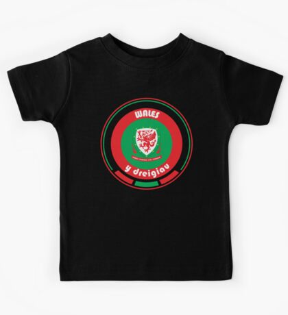 Euro 2016 Football - Team Wales Kids Tee