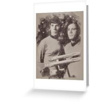 Captain Kirk and Spock from Star Trek Greeting Card