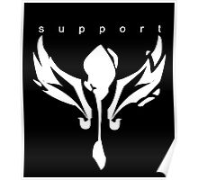League of Legends support design white  Poster