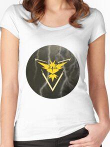 Pokemon Go - Team Instinct (lightning circle 1) Women's Fitted Scoop T-Shirt