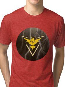 Pokemon Go - Team Instinct (lightning circle 1) Tri-blend T-Shirt