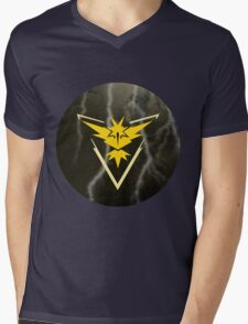 Pokemon Go - Team Instinct (lightning circle 1) Mens V-Neck T-Shirt