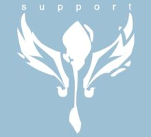League of Legends support design white  by kkitkat