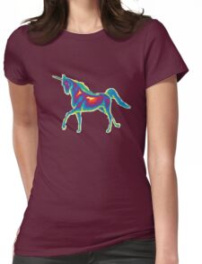 Heat Vision - Unicorn Womens Fitted T-Shirt
