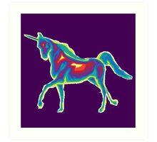 Heat Vision - Unicorn Art Print