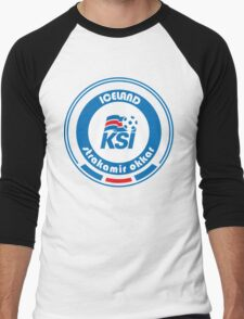 Euro 2016 Football - Team Iceland Men's Baseball ¾ T-Shirt