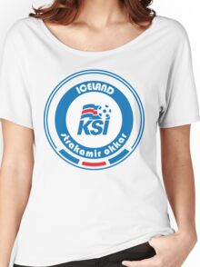 Euro 2016 Football - Team Iceland Women's Relaxed Fit T-Shirt