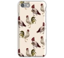 rooster and chicken, country living iPhone Case/Skin