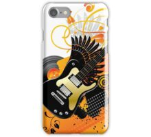 Background with a guitar iPhone Case/Skin