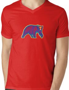 Heat Vision - Polar Bear Mens V-Neck T-Shirt