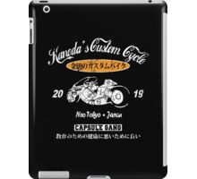 AKIRA SHOTARO KANEDA BIKE CUSTOM MOTORCYCLE NEO TOKYO CAPSULE GANG ANIME MANGA iPad Case/Skin